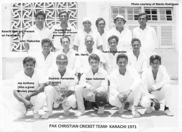 CricketPakChristianTeam1971