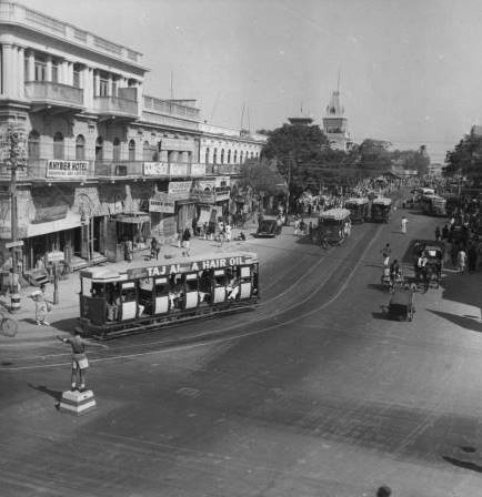 1950 - Tram turning point Saddar