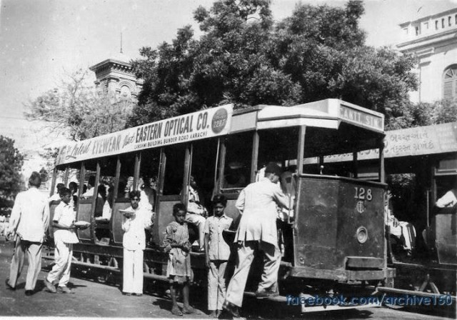 1952 - Tram in Saddar